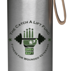 Water bottle silver and green