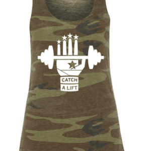 women's camo tank front