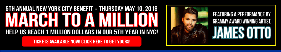 5th Annual NYC Benefit. Thursday May 10 2018. Help Us Reach 1 Million Dollars In Our 5th Year In NYC!